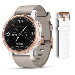 Смарт часы Garmin D2 Delta S,Sapphire,White Rose Gold w/White Band,GPS,EMEA