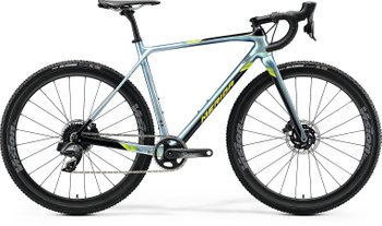 Велосипед Merida MISSION CX FORCE EDI GLY SPARK BLUE/BK(LIME) 2020