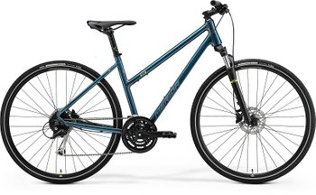 Велосипед Merida CROSSWAY 100 TEAL-BLUE(SILVER-BLUE/LIME) XXS(39L) 2021