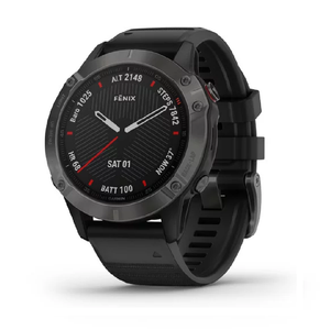 Смарт часы Garmin fenix 6 - Carbon Gray DLC with Black Band
