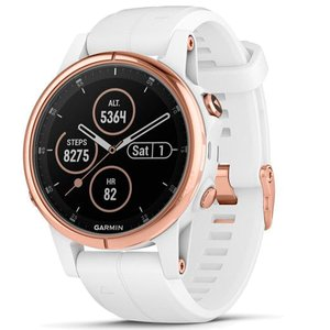 Смарт часы Garmin fenix 5S Plus,Sapphire, White with Grey Suede Band