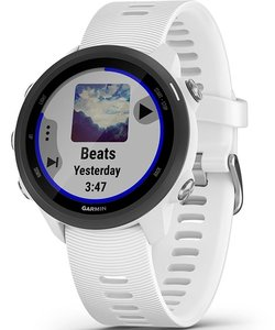 Смарт часы Garmin Forerunner 245 Music, White/Black, GPS навигатор
