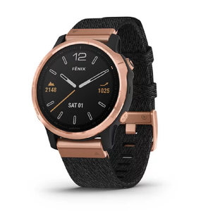 Смарт часы Garmin fenix 6S - Light Gold-tone with Shale Gray Leather Band