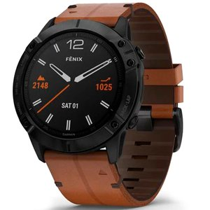 Смарт часы Garmin fenix 6X - Titanium Carbon Gray DLC with Black Band