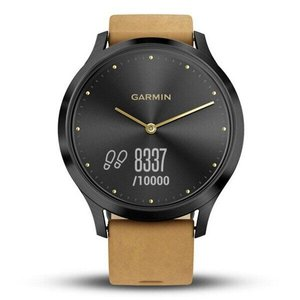 Фитнес часы Garmin vivomove HR, WW, Premium, Black-Tan, One-size