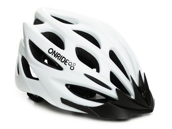 Шлем Onride MOUNT white matt, модель MV50, цвет козырька Black, цвет лого Black, M (55-58)