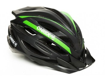 Шлем Onride GRIP black-green, модель HB31, цвет козырька Black, цвет лого White, M (55-58)