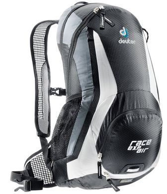 Рюкзак Deuter Race EXP Air 14+3 цвет 7130 black-white, 11-20 л, велосипедные