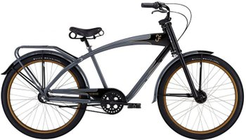 Велосипед Felt Cruiser Nebula charcoal/black, One size (165-185 см), ножной, 26