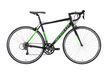 "Велосипед 28"" Apollo GIRO 10 matte black/matte green, Белый, M (160-175 см), 2018, ободные, 28"