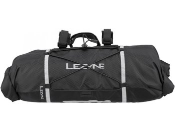 Сумка Lezyne на руль BAR CADDY черный WATER RESISTANT HANDLEBAR BAG, SIDE ROLL ENCLOSURES, MOUNT WITH ADJUSTABLE STRAPS, FITS 2x MTB TUBES, PATCH KIT, TIRELEVERS, LARGE MULTI-TOOL, COMPACT JACKET +MORE, 12L CAPACITY