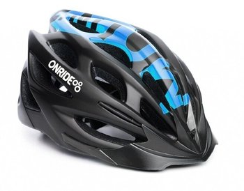 Шлем Onride MOUNT black-blue, модель MV50, цвет козырька Blue, цвет лого White, L (58-61)